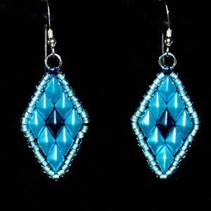 Diamond Duo Beaded Earrings
